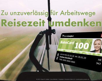 Bahn zu unzuverlässig? | © 2021 Claus R. Kullak | Linus Mimietz / Unsplash | Deutsche Bahn AG | resdomestica.prepon.de