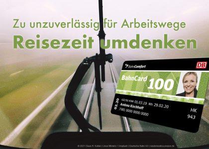 Bahn zu unzuverlässig?   © 2021 Claus R. Kullak   Linus Mimietz / Unsplash   Deutsche Bahn AG   resdomestica.prepon.de